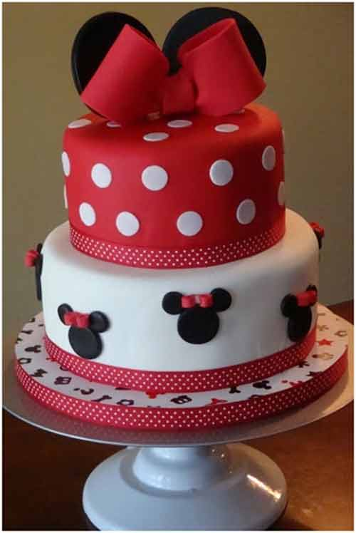 Mickey Mouse two tier cake