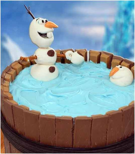 Penguin Chocolate Pool Cake