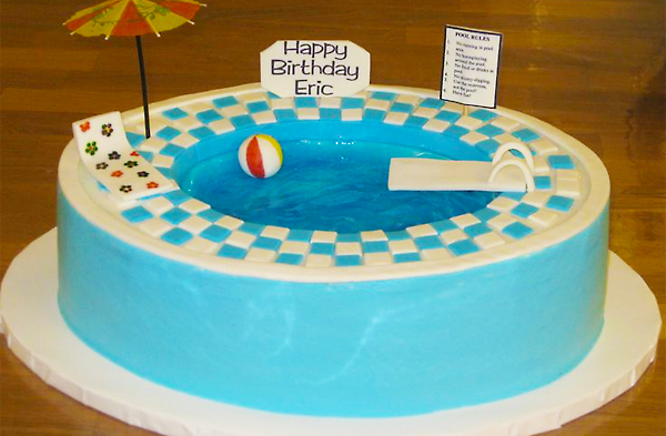Magnificent Enjoy Your Pool Party With Online Cakes In Noida Cakengifts In Funny Birthday Cards Online Inifodamsfinfo