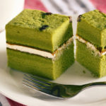 Healthy green tea cake