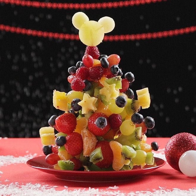 Christmas tree Cakes with Mix Fruits