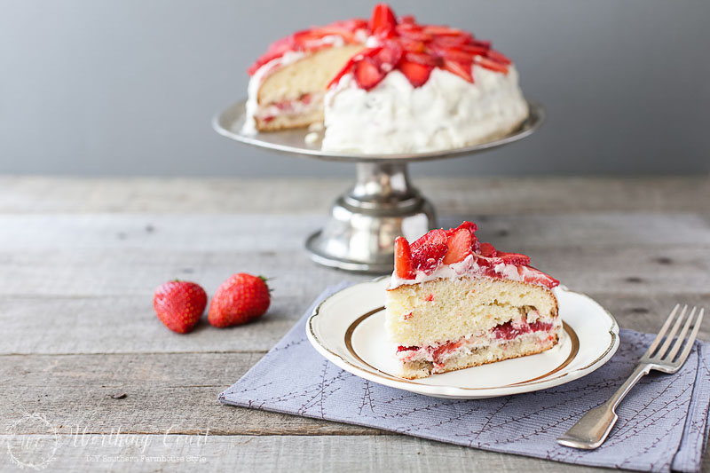 A beautiful cake with added strawberry frosting going to add the refreshing flavor to your mouth