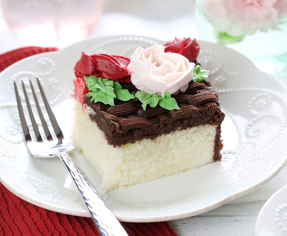 Mothers Day Cake slice
