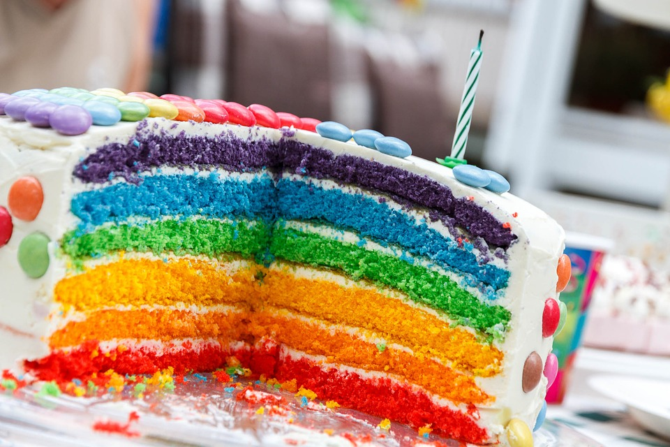 Beautiful Rainbow Cake Image