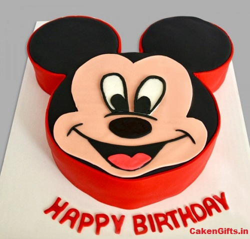 Marvelous Know The Best 5 Mickey Mouse Cakes Cakengifts In Personalised Birthday Cards Paralily Jamesorg