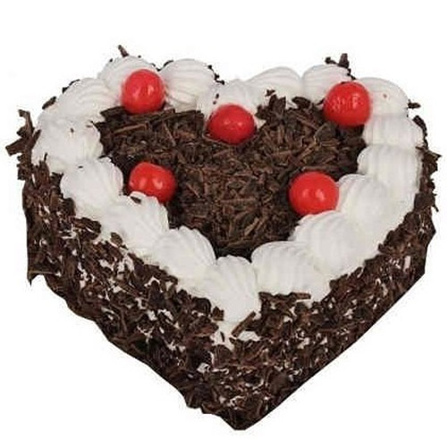 Love Heart Blackforest Cake