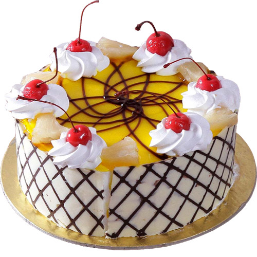 round-pineapple-cake-n-cherry