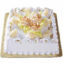 Square Pineapple Cake N Cream