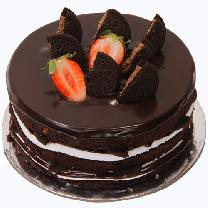 Chocolate Cake With Half Oreo