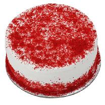 Red Velvet With Cream Cake