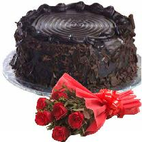 Round Choco N 6 Red Roses