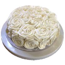White Rose Pineapple Cake