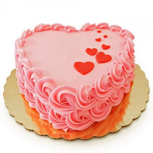 Heart Pink Delight Cake
