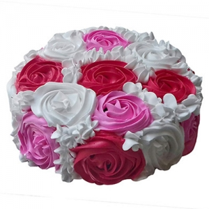 Colourful Rose Delight Cake