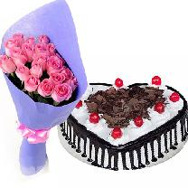 Blackforest Cake 12 Pink Rose