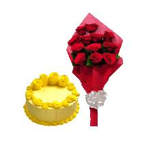 Buttery Cake Yellow 10 Red Rose