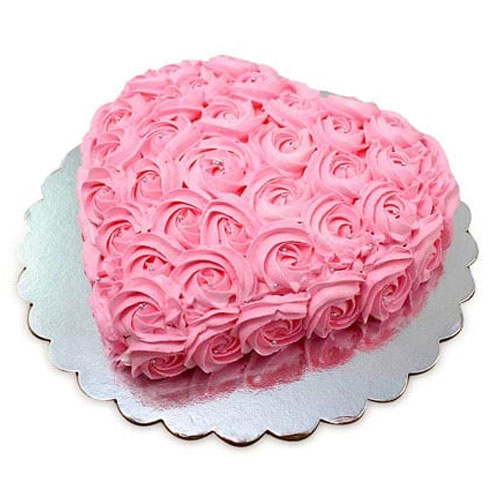 pink-roses-heart-cake