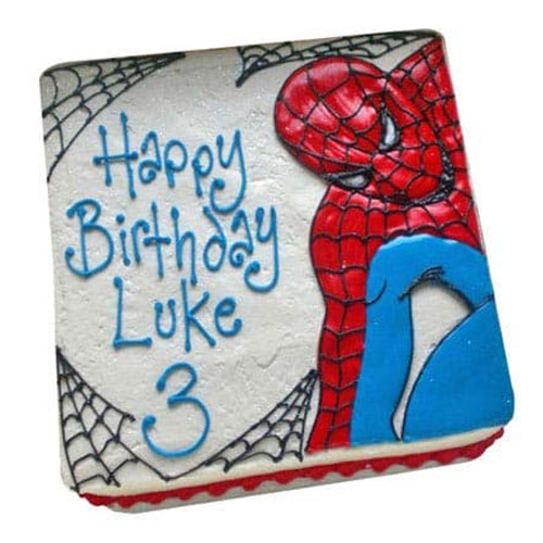 spiderman-vanilla-cake