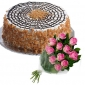 butterscotch-cake-in-round-12-pink-roses thumb
