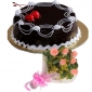 cherry-on-chocolate-cake-6-pink-roses thumb