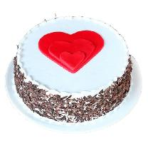 Black Forest Heart Gateau