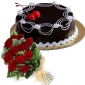 cherry-on-chocolate-cake-12-red-roses thumb