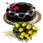 cherry-on-chocolate-cake-12-yellow-roses thumb