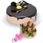 chocolate-with-cream-cake-6-pink-roses thumb