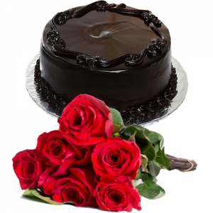Frosty Chocolate Cake 6 Roses