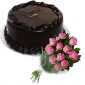 frosty-chocolate-cake-12-pink-roses thumb