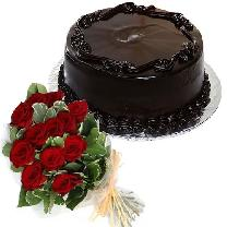 Frosty Chocolate Cake 12 Roses