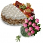 fruit-cake-with-two-taste-12-pink-roses thumb