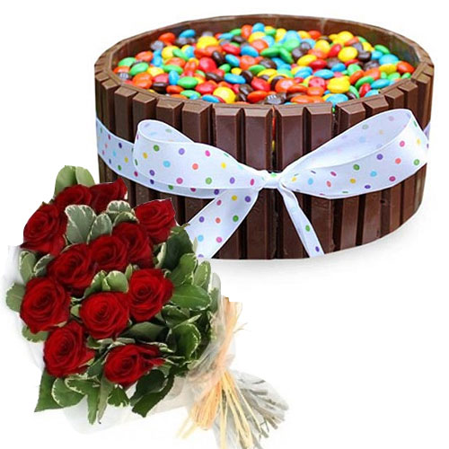 kit-kat-cake-with-gems-12-roses