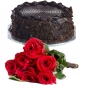 round-chocolate-cake-6-roses thumb