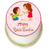 Tasty Rakhi Photo Cake