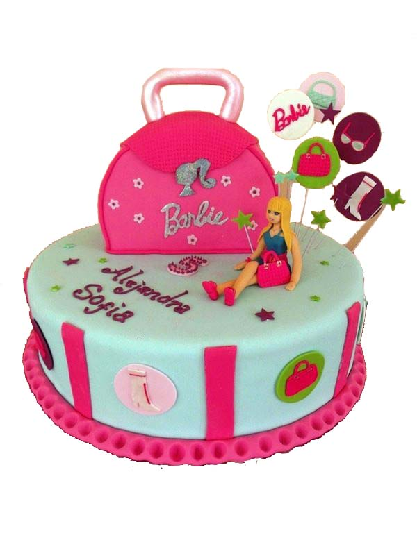 stylish-barbie-cake