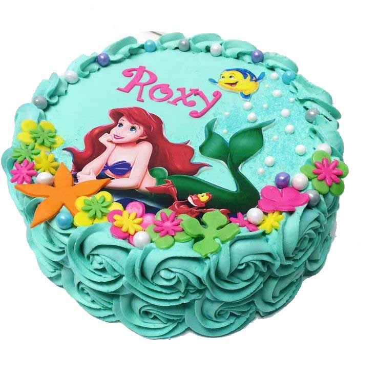 rose-mermaid-cake