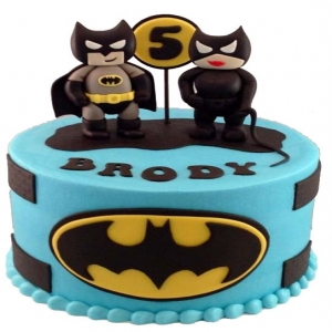 Bat Couple Cake