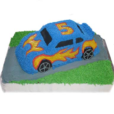 fire-car-shape-cake