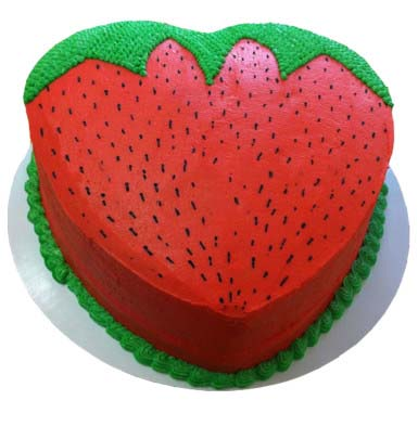 strawberry-design-cake