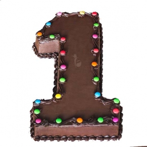 Digit 1 Chocolate Cake