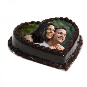 Photo In Heart Truffle Cake