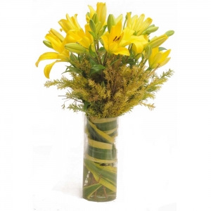 Happy Lillies Vase