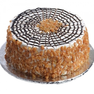 Butterscotch Cake In Round