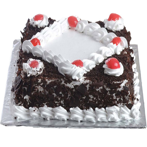 Delicious Black Forest Cake In Square To Gift Same Day